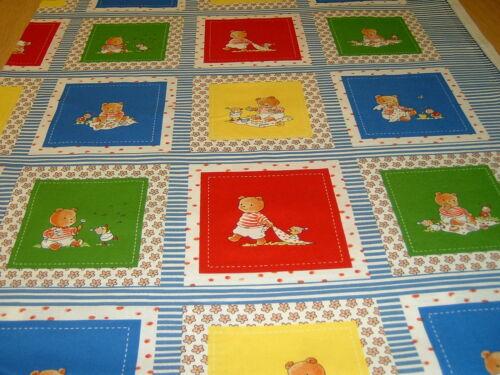 Memoy Bilder Buch  Teddy Picknick  Label   Baumwolle  Patchworkstoff