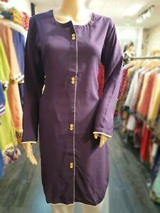 Indian-Pakistani-Shalwar-Kameez-Salwar-Suit-Dress-Wedding-Designer-Kurta-Purple