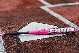 """-10 2 1//4/"""" Barrel Rawlings AMP FP8AMP Fastpitch Youth Softball Bat 28/"""" 18 oz."""