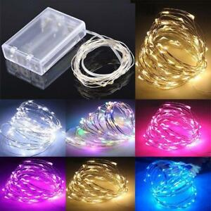 LED-String-Fairy-Lights-Xmas-Christmas-Battery-Decoration-Festive-Warm-White