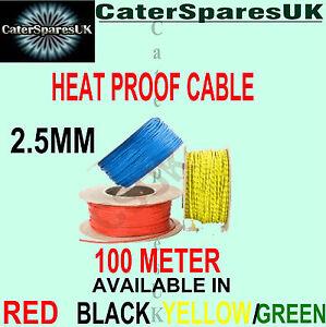 Hitze Wasserfest 2.5mm Glasfaser Kabel per Meter Gerät Hochtemperatur Ersatzteil