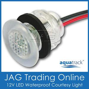 WHITE LED LIVEWELL BAIT TANK LIGHT Courtesy/Stair/Boat/Caravan/Cabin/Marker Lamp