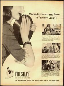 1944-Vintage-ad-for-TRUSHAY-hand-lotion-WW-II-era-032013