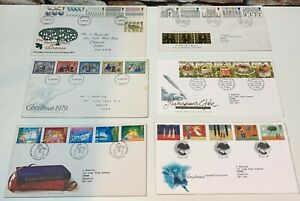 JOB-LOT-Post-Office-FIRST-DAY-COVER-Stamps-GREAT-BRITAIN-1977-1996-FAST-POSTAGE