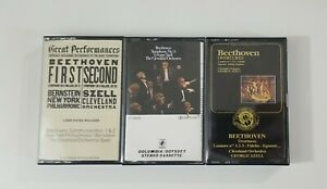 George Szell Cleveland Orchestra Cassette Lot of 3 Tapes SEE DESCRIPTION
