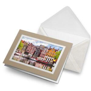 Greetings-Card-Biege-River-Amstel-Amsterdam-Netherlands-16600