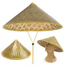 Chinese Oriental Vietnamese Coolie Straw Bamboo Sun Hat Farmer Fishing Rice Hat