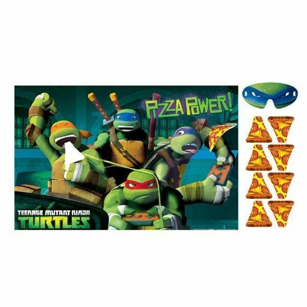 TMNT Party Supplies Teenage Mutant Ninja Turtles Game Stick the Pizza Birthday