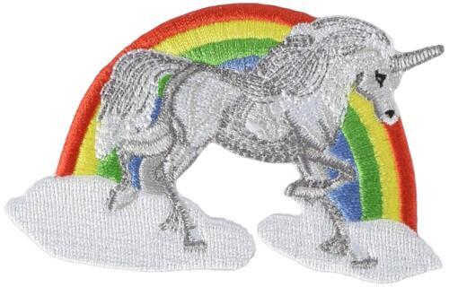 Unicorn Rainbow Embroidered Iron On Patch Cute Animal Horse Girls Kids 146-W