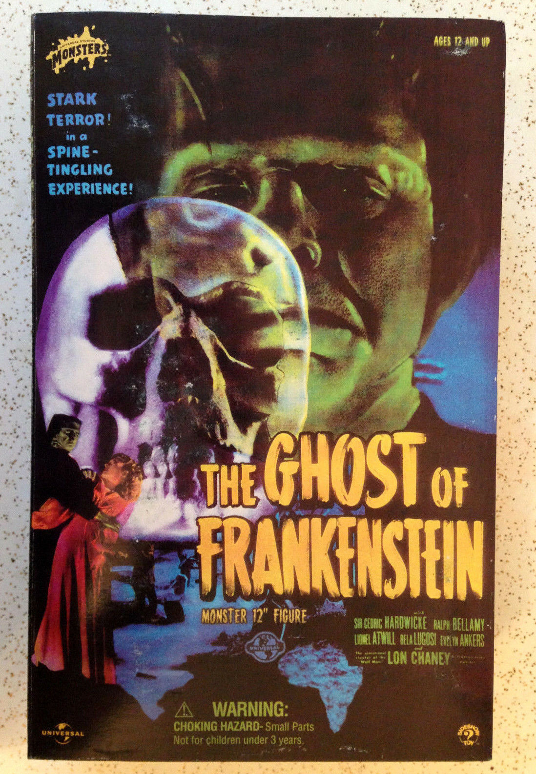 2001 SIDESHOW TOYS THE GHOST OF FRANKENSTEIN LON CHANEY JR 12  1 6 SCALE FIGURE