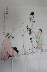 RARE-LARGE-Chinese-100-Handed-Painting-By-Fan-Zeng-EK16