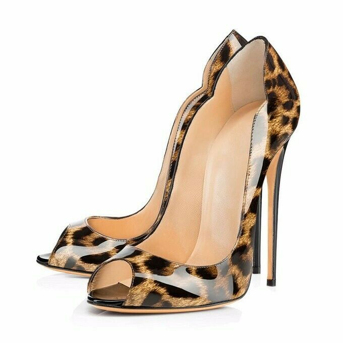 Sexy Womens Ladies High Heels Peep Toe Toe Toe Stilettos Leather shoes Party Pumps New ae24f3