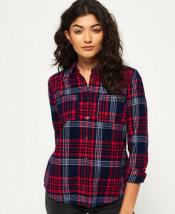 Shirt Lumberjack Womens Navy Superdry New q1zvP0wW