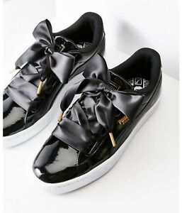 aed2b58da9a4 Image is loading NIB-Puma-Basket-Heart-Patent-Leather-Womens-Sneakers-