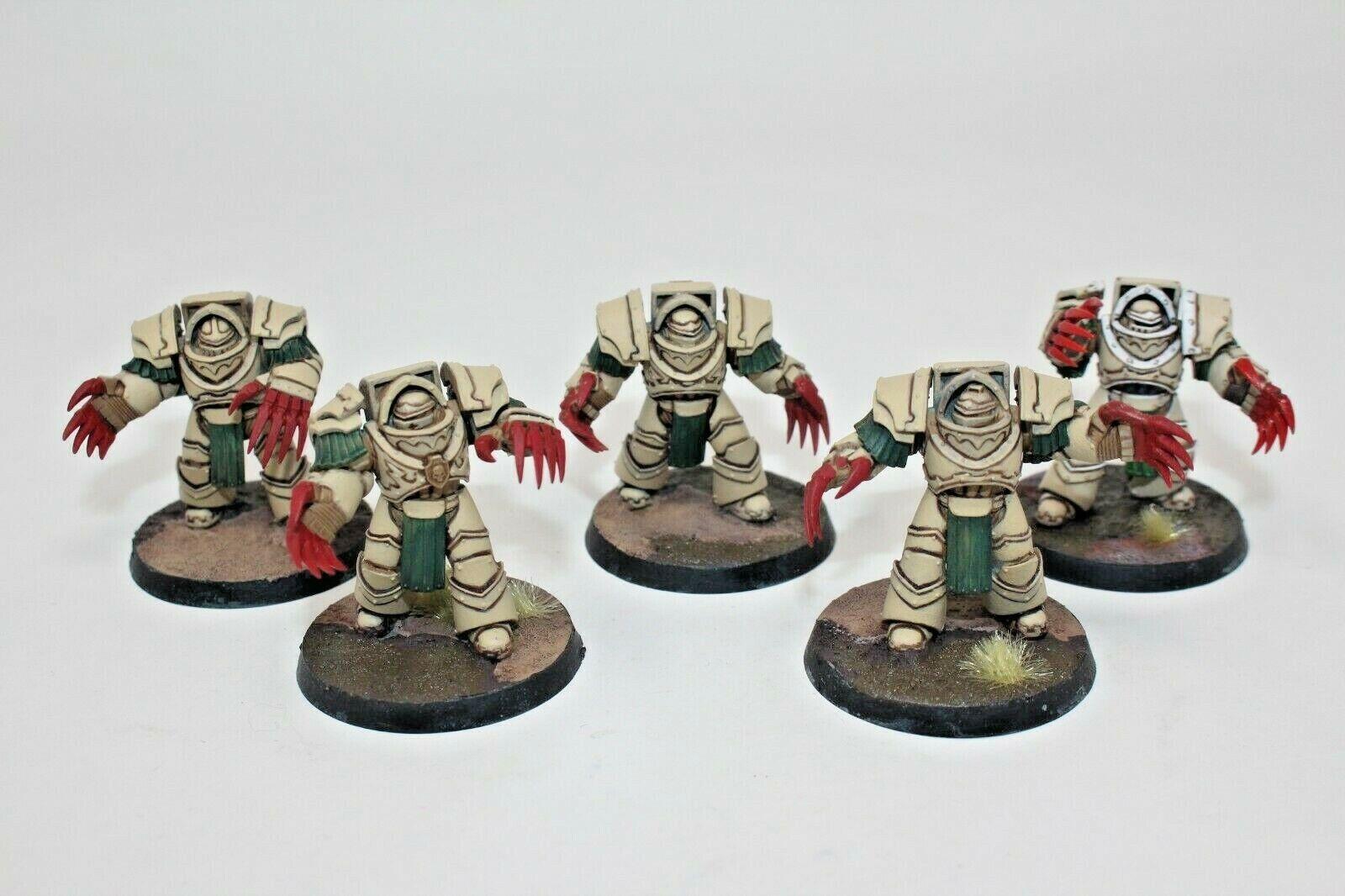 Warhammer Space Marines Dark Angels Catafracti Terminatorer bra målade - A20