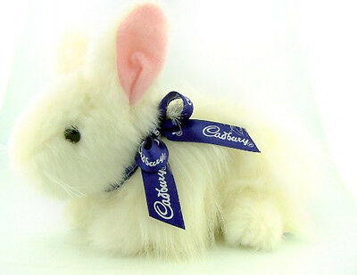 Unique Clucking White Cadbury Bunny - Easter Gift -  Plush Toy