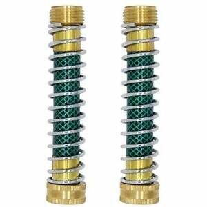 "Heavy Duty Brass Couplings Hose Spring Extension Garden Hose Kink Protector 6/"""