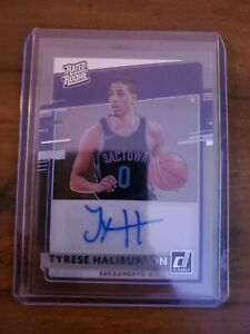2020-21 panini Clearly Donruss Tyrese Haliburton Rated Rookie RC Auto🔥🔥