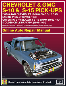 1987 chevrolet s10 haynes online repair manual select access ebay rh ebay com s10 haynes manual S10 Manual Shift