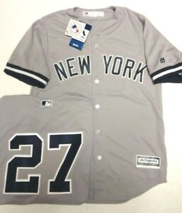 online retailer 4ad2c c946a Details about GIANCARLO STANTON YANKEES MENS GREY COOL BASE JERSEY PICK  SIZE MAJESTIC NEW