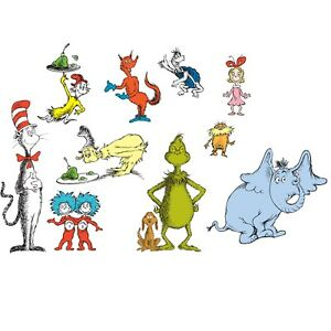 Image Is Loading Dr Seuss 22 Wall Stickers Cat Hat