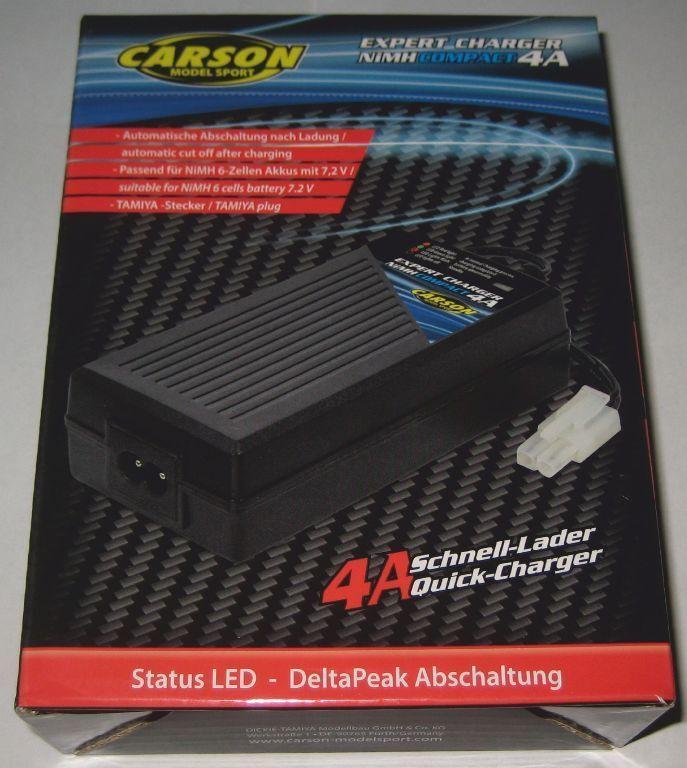Carson 500606070 Schnellladegerät Expert Charger 4A mit Delta-Peak Abschaltung