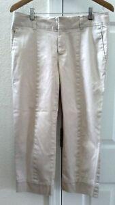 Banana-Republic-Martin-Fit-Skimmers-Capri-Crop-Pants-Women-039-s-Size-6-Small-Khaki