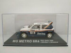 1-43-MG-AUSTIN-METRO-6R4-RAC-MCRAE-GRINDROD-1986-RALLYE-IXO-RALLY-ESCALA-DIECAST