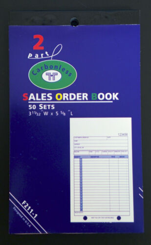 """6 Pack Small Mini Sales Order Book Hand Held Carbonless Receipt 3.3/"""" x 5.6/"""""""