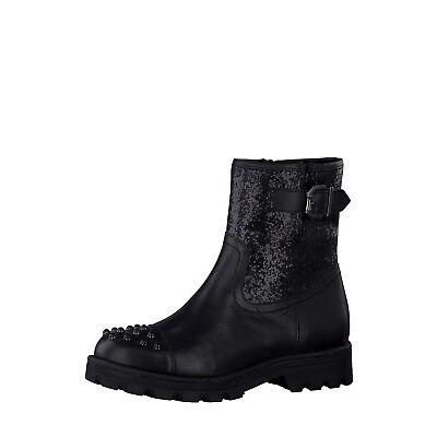 TAMARIS Damen Stiefel Boots Schuhe echt Leder Glitzer-Effekt Nieten d24258a56a