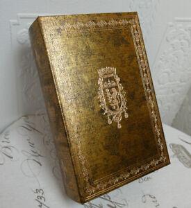 Buchattrappe Geschenkbox Buch Schatulle Safe Kiste Antik Stil Gold H27cm