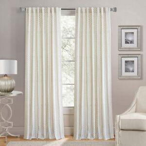Bed Bath Beyond Lorenzo Back Tab Curtain Panel In Jute 2 Panels