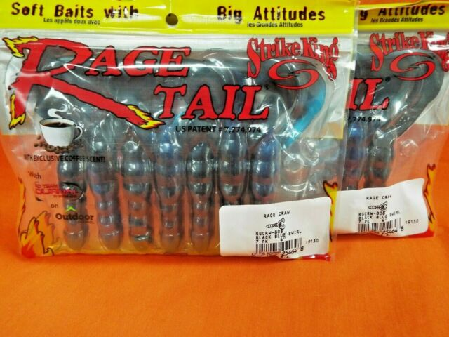 Mizmo Tubes 4 Inch Bad Boy Two Tone Laminates Black Red Shad