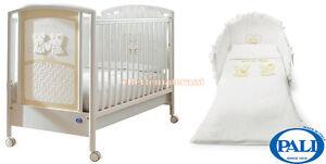 Nanna Sincere Lettino Pali Maison Bebè Bianco Set Tessile Pali In Coordinato