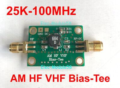 DC-50V RF Blocker Biaser Bias Tee 25K-100MHz for HAM radio RTL SDR LNA Amplifier