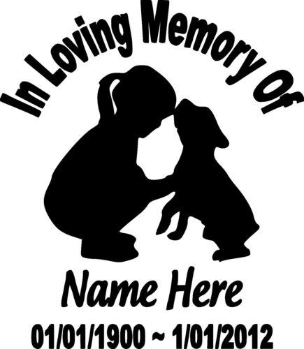 In Loving Memory Vinyl Decal Sticker Graphic Personalized Custom Car Window