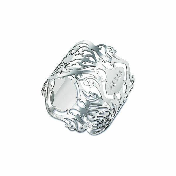 Nouveau-Sterling Argent-serviette ou napkin ring-Coffret-Percé