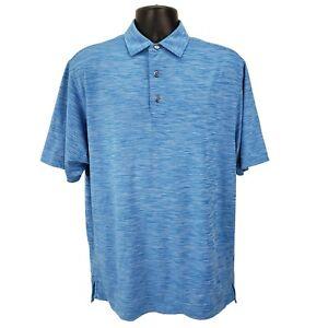FootJoy-Golf-Mens-Performance-Polo-Shirt-Size-Medium-M-Short-Sleeve-Heather-Blue