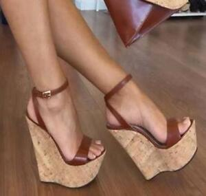 Women-Wedge-High-Heels-Platform-Ankle-Strap-Sandals-Pumps-Sandals-Shoes-US4-5-12