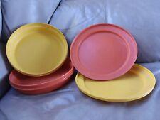 vintage tupperware bowl set of 2  medium Seal-N-Serve set 1 yellow #1337 1 orange tupperware #1336