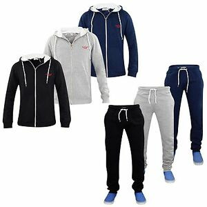 Mens Plain Round Neck Jogging Suit Full Tracksuit Sweat Shirt Bottoms Top Fleece Carefully Selected Materials Activewear