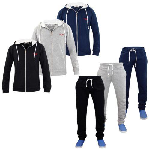 Neu Herren Jacksouth Trainingsanzug Jogginghose Set Gefütterte Kapuze