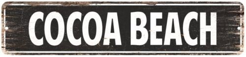 Cocoa Beach Vintage Look Personalized Metal Sign Chic 4x18 104180008106