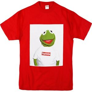 Image Is Loading Supreme Kermit The Frog Tee Red Size Xl