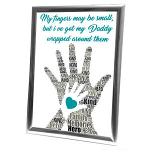Personalised-Christmas-Gifts-Dad-Daddy-Father-Him-Framed-Best-Card-Family-Gift