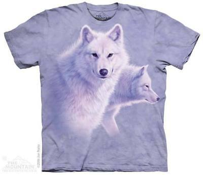 XL NWT M L The Mountain 100/% Cotton Kids Loving Wolves T-Shirt Tee S