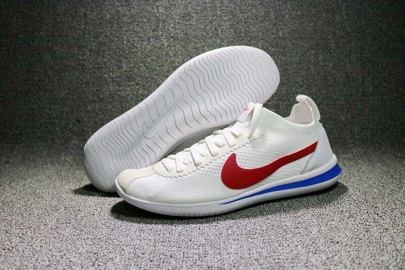 Nike Cortez Flyknit Forrest Gump OG Uk 9.5 EU44.5 Bianco Rosso Blu Rrp .00