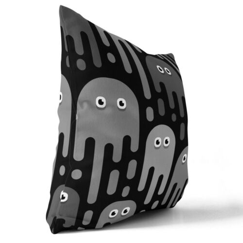 Space Invaders Zip Rempli Coussin Designer Gris