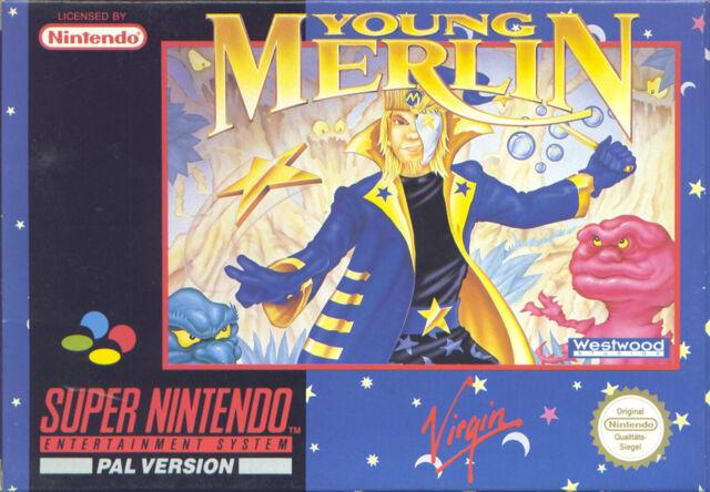 Super Nintendo SNES NES-Young Merlin-TOP!