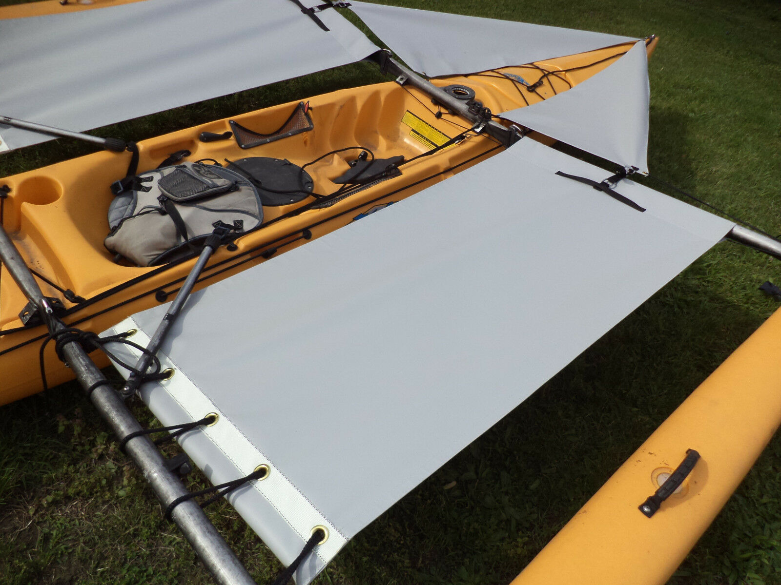 grau  Trampoline & splash  shield set - for 2014 down Adventure  Island Kayak
